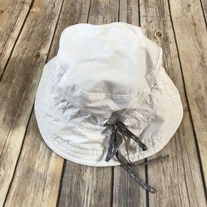 Reversible Bucket Hat White Floral Children's